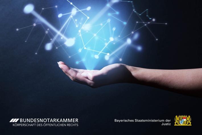Innovationspreis für erste Blockchain-Kooperation in der Justiz / Bundesnotarkammer und bayerisches Justizministerium erproben digitale Version von notariellen Vollmachten und Erbscheinen (FOTO)