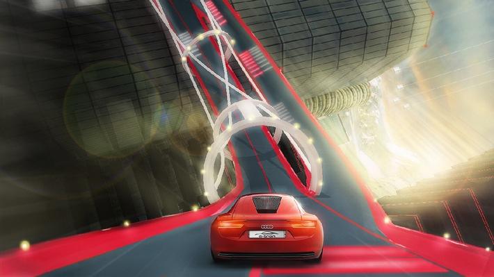 Virtuelle Testfahrt mit Audi Elektrostudie e-tron