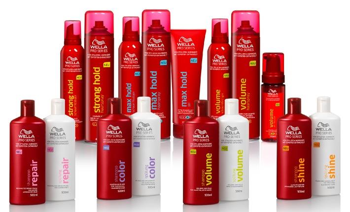 NEU: Wella Pro Series - exklusiv im Einzelhandel / Haarpflege- und Stylingkompetenz von Wella, der Nr. 1 Friseur-Marke* (mit Bild)