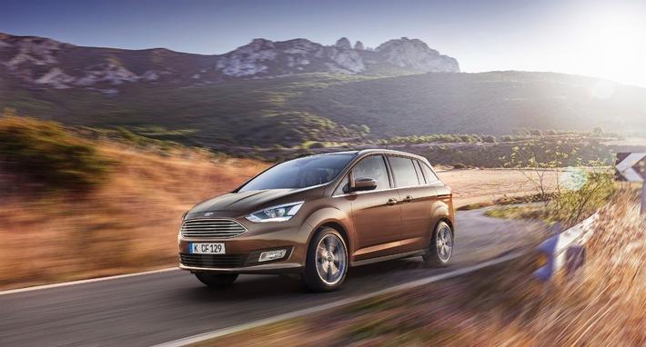 Der neue Ford C-MAX und Grand C-MAX: noch stilvoller, noch komfortabler und noch hochwertiger