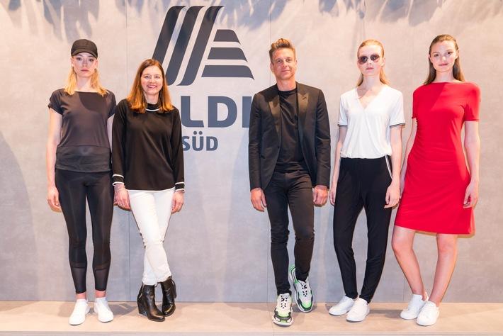 Glamour und High-Fashion vom Discounter: Steffen Schraut stellt seine Kreationen für ALDI SÜD vor