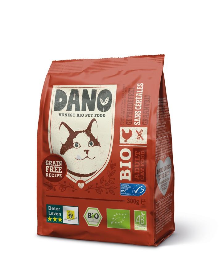 Bio für die Katze: DANO Bio-Katzenfutter ab 1. September 2018 bei DM Drogeriemarkt (FOTO)