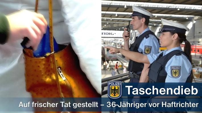 Bereits vier mal war ein Taschendieb in den zurückliegenden vier Wochen im Bundesgebiet an Bahn- und Flughäfen auffällig geworden. Jetzt klickten im Münchner Hauptbahnhof die Handschellen als der 36-Jährige ungeschickt vorging.