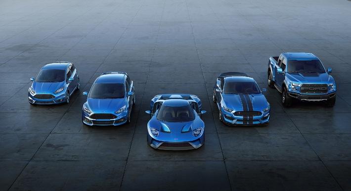 Neuer Ford Focus RS und neuer Ford GT auf dem Genfer Automobil-Salon 2015
