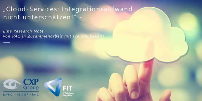"""PAC Research Note """"Cloud Services: Integrationsaufwand nicht unterschätzen!"""" / Weiterer Text über ots und www.presseportal.de/nr/110500 / Die Verwendung dieses Bildes ist für redaktionelle Zwecke honorarfrei. Veröffentlichung bitte unter Quellenangabe: """"obs/Freudenberg IT/Freudenberg IT GmbH & Co. KG"""""""