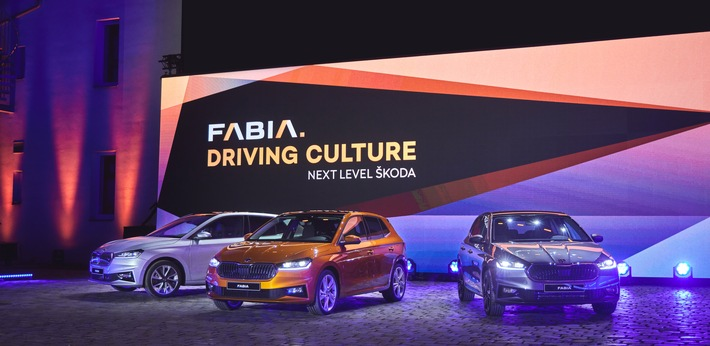 Die Weltpremiere des neuen SKODA FABIA in Bildern