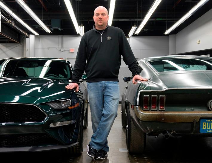 """Verschollen geglaubter Mustang aus Film """"Bullitt"""" und neuer Ford Mustang BULLITT[TM] beim Goodwood Festival of Speed"""