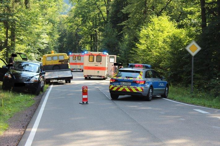 Verkehrsunfall mit Personenschaden L478 Fischbach