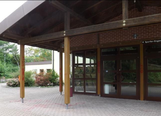 Eingangsbereich Stadthalle Meßkirch