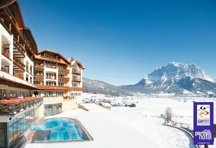 Hotel Post Lermoos, Tirol offizieller WM-Partner Garmisch-Partenkirchen - BILD