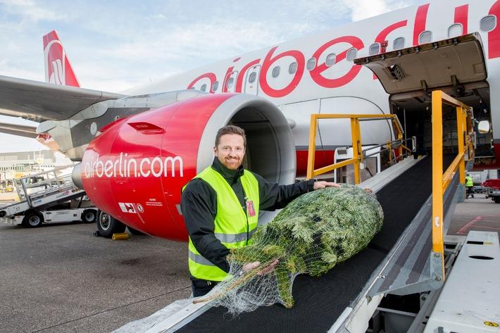 Kostenloser Weihnachtsbaumtransport bei airberlin