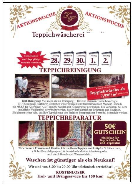 ▷ POL-NB: Warnung vor unseriösen Teppichreinigern | Presseportal