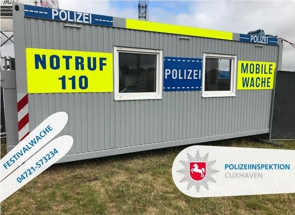 POL-CUX: Deichbrand 2019 - Bewährte Festivalwache wieder vor Ort