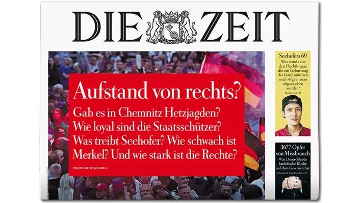 DIE ZEIT 38/18. Weiterer Text ber ots und www.presseportal.de/nr/9377 / Die Verwendung dieses Bildes ist fr redaktionelle Zwecke honorarfrei. Verffentlichung bitte unter Quellenangabe:
