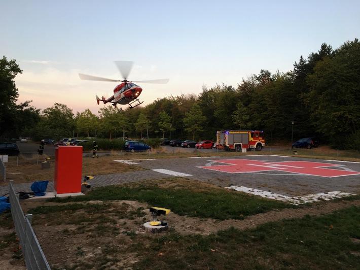 Landung von Christoph Dortmund am GKH