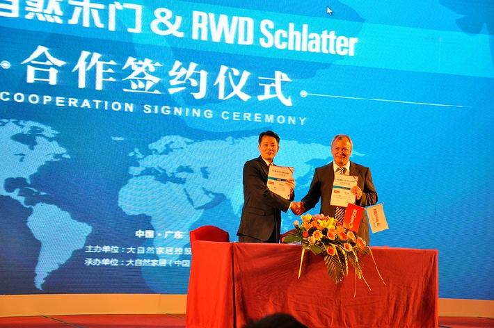 RWD Schlatter unterzeichnet Grossauftrag in China (BILD)
