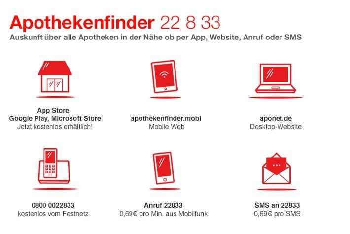 """""""Apothekenfinder""""-App ab sofort kostenlos und in neuem Design"""