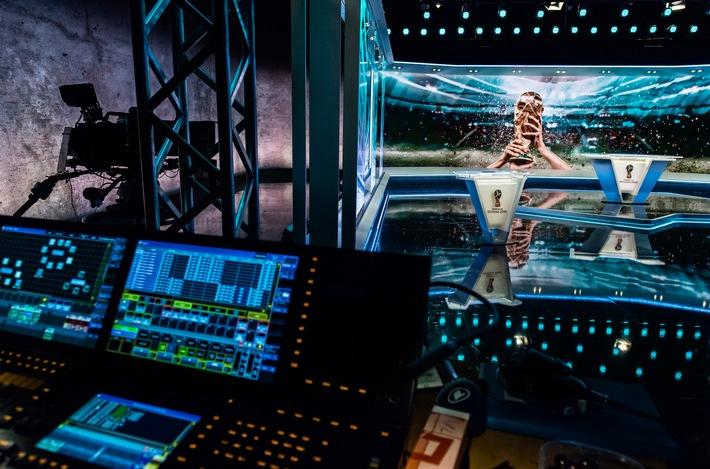 """WM-Studio Russia 2018 - ARD Sportschau. Weiterer Text über ots und www.presseportal.de/nr/29876 / Die Verwendung dieses Bildes ist für redaktionelle Zwecke honorarfrei. Veröffentlichung bitte unter Quellenangabe: """"obs/ARD Presse/SWR/Kluge"""""""