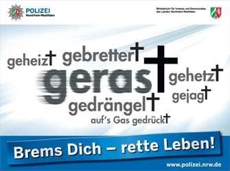 """POL-DN: """"Brems Dich - rette Leben!"""""""