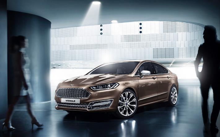 """Ford hat dieser Tage die neuen """"Vignale Lounges"""" vorgestellt. Es handelt sich dabei in erster Linie um ein Showroom-Konzept passend zur künftigen neuen Premium-Ausstattungslinie """"Vignale"""", die im kommenden Jahr zunächst mit der nächsten Generation des Mondeo Vignale (Bild) und kurz darauf auch mit der nächsten Generation des S-MAX Vignale ihr Europa-Debüt feiert. Die Besonderheit dabei: Die """"Vignale Lounges"""" wurden von den gleichen Kreativen entworfen, die auch für das luxuriöse Vignale-Ausstattungslinie verantwortlich zeichneten. Die """"Vignale Lounges"""" sind integrale Bestandteile der neuen Ford Stores, die Ford vornehmlich in den Metropolregionen Europas bei ausgewählten Vertriebspartnern einrichten wird. Weiterer Text über OTS und www.presseportal.de/pm/6955 / Die Verwendung dieses Bildes ist für redaktionelle Zwecke honorarfrei. Veröffentlichung bitte unter Quellenangabe: """"obs/Ford-Werke GmbH"""""""