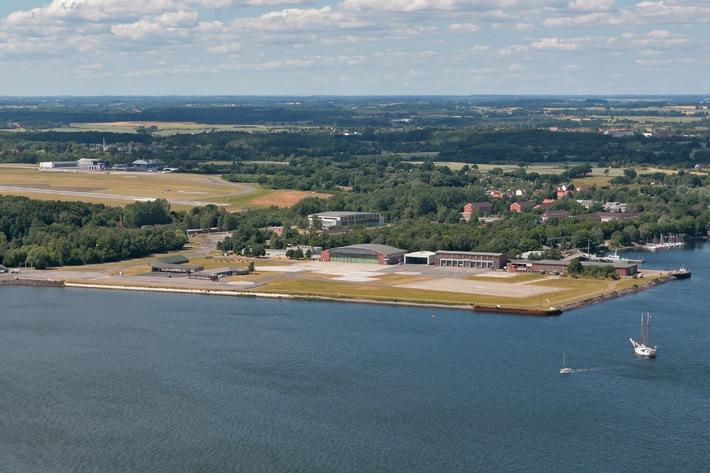 Archivbild: Luftaufnahme vom Gelände des Marinefliegergeschwaders 5 in Kiel-Holtenau. Quelle: PIZ Marine
