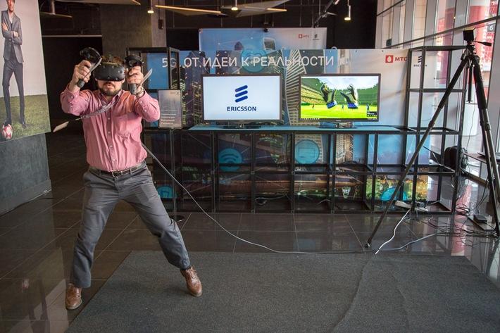 """VR-Anwendung im 5G-Testnetz / Weiterer Text über ots und www.presseportal.de/nr/13502 / Die Verwendung dieses Bildes ist für redaktionelle Zwecke honorarfrei. Veröffentlichung bitte unter Quellenangabe: """"obs/Ericsson GmbH"""""""