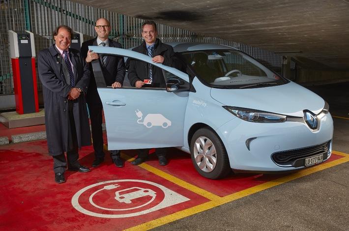 Mobility Carsharing setzt neunzehn neue Renault ZOE ein (BILD/ANHANG)