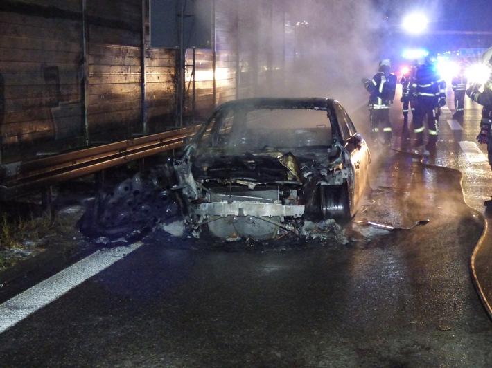 POL-LB: A 81/Ludwigsburg: Langer Stau durch Fahrzeugbrand