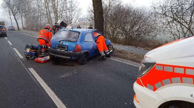 B74: Schwerverletzter nach Unfall in Hambergen (keine bessere Auflösung vorhanden).