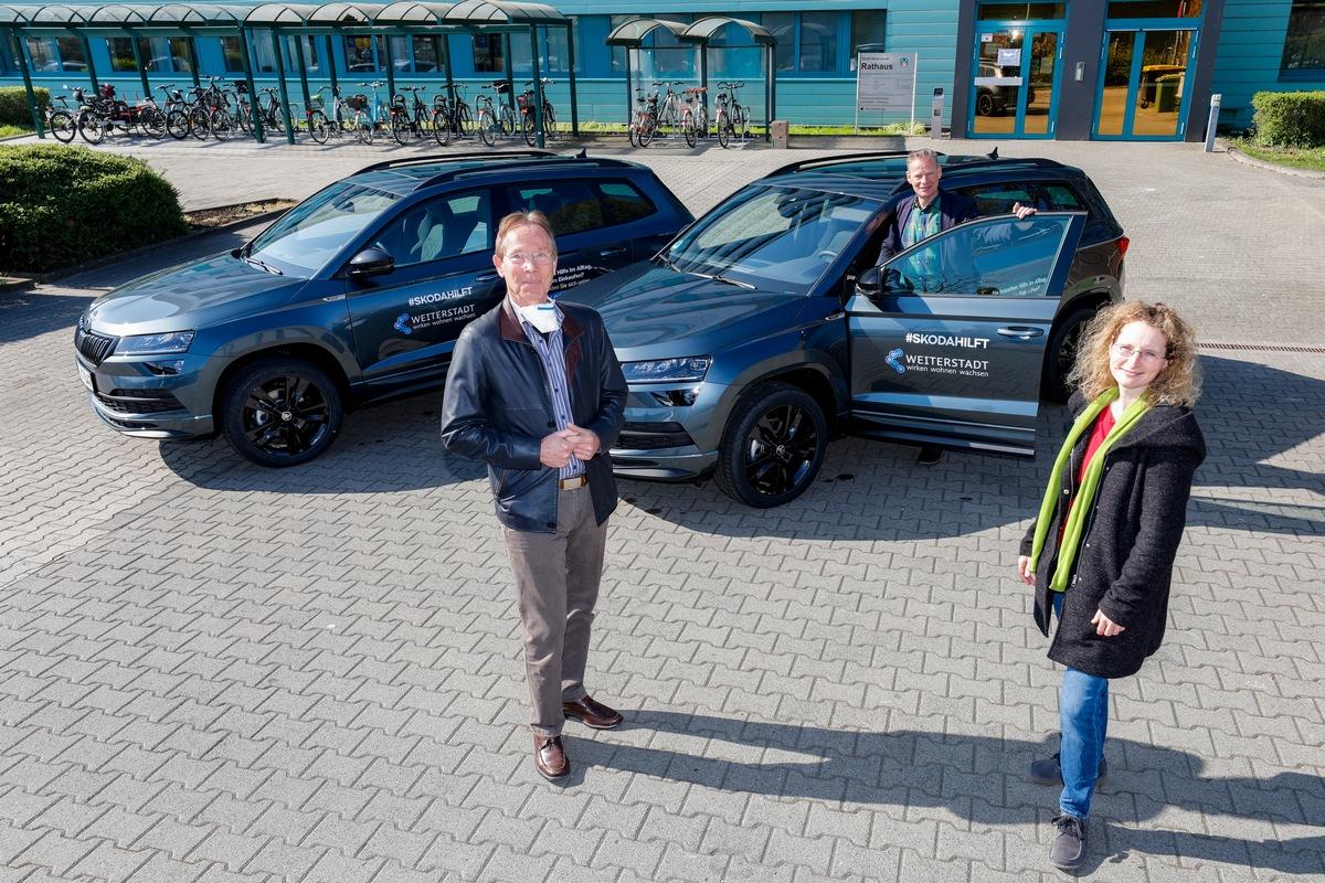 skodahilft: SKODA AUTO Deutschland stellt Fahrzeuge für lokale Unterstützung