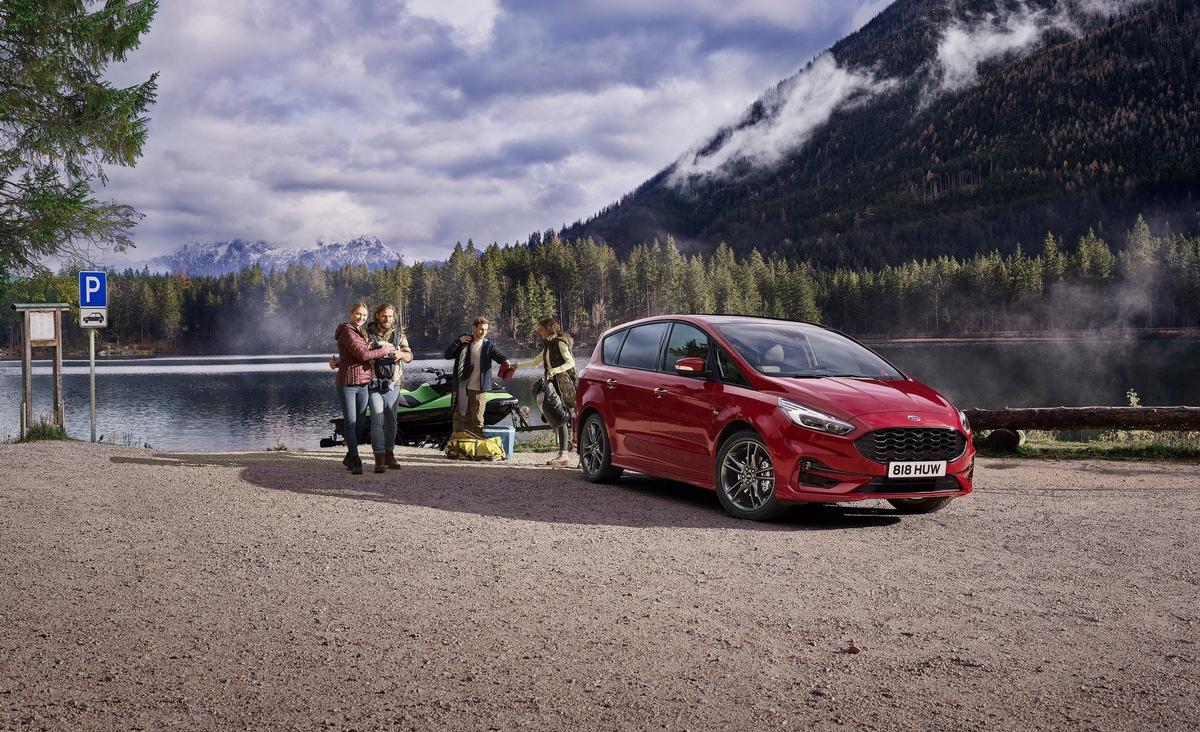 Ab sofort bestellbar: Neue Vollhybrid-Variante des Ford S-MAX und des Ford Galaxy