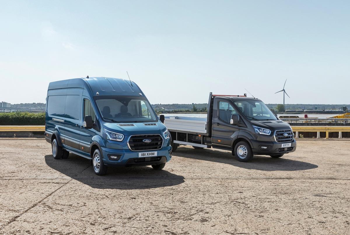 Noch vielseitiger denn je: Ford Transit jetzt auch als 5-Tonner mit höherer Nutzlast lieferbar