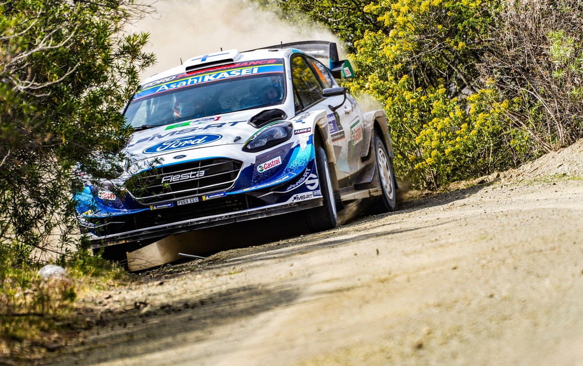 Der Ford Fiesta WRC darf endlich wieder zum Schottertanz auf der Rallye-WM-Bühne bitten