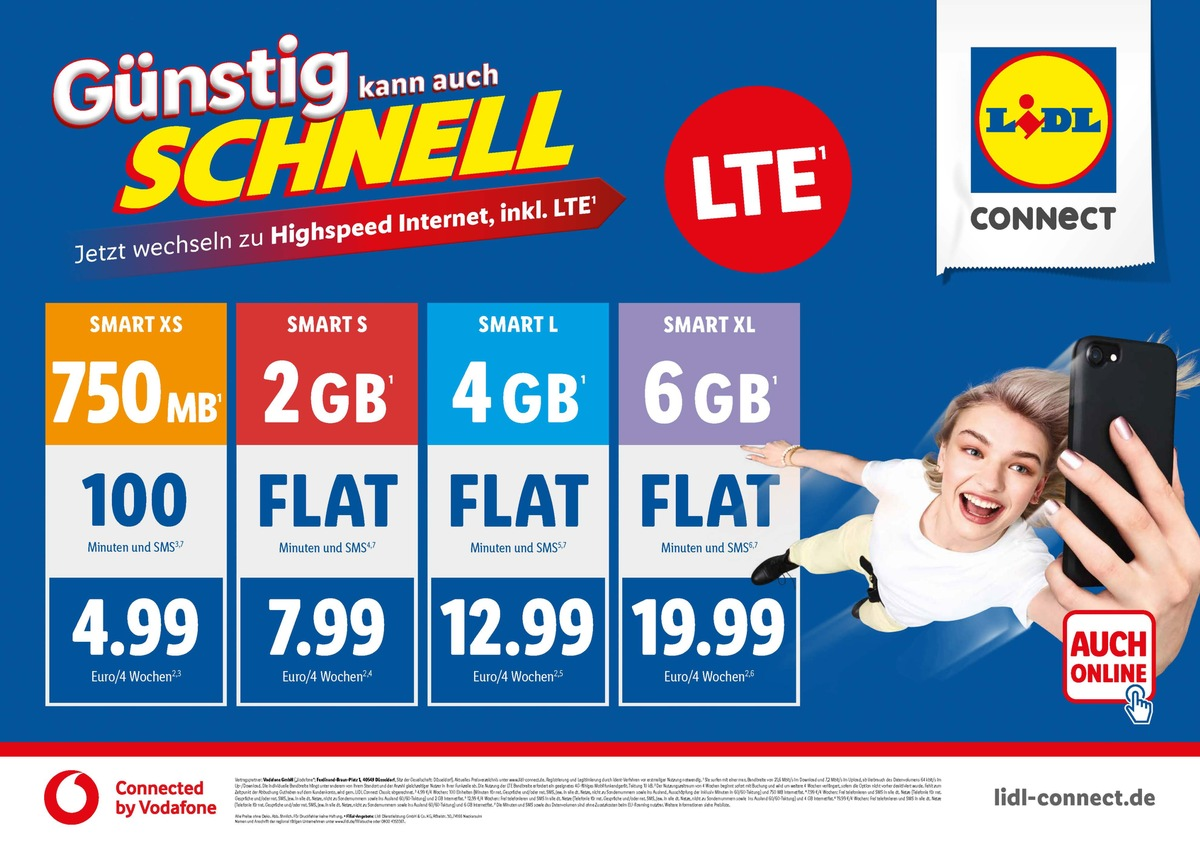 Lidl Surf Karte.Lte Bei Lidl Connect Connected By Vodafone Schnell