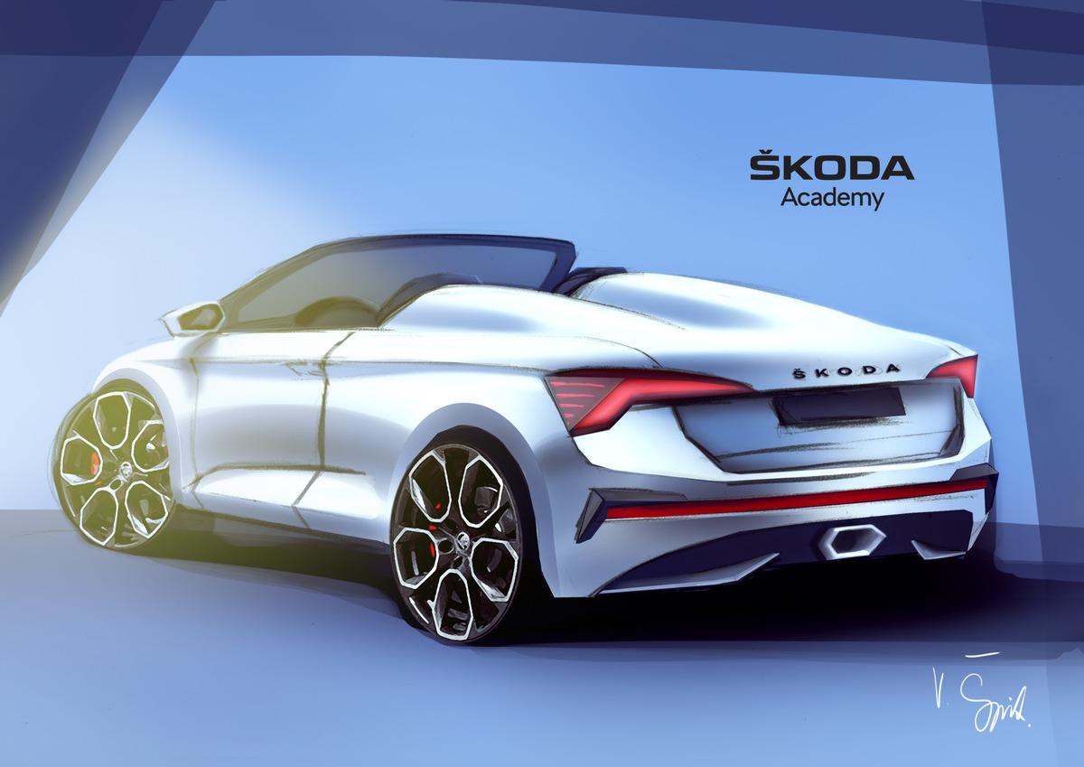 Siebtes SKODA Azubi Concept Car nimmt Gestalt an: Studenten arbeiten an Spider-Variante des SKODA SCALA