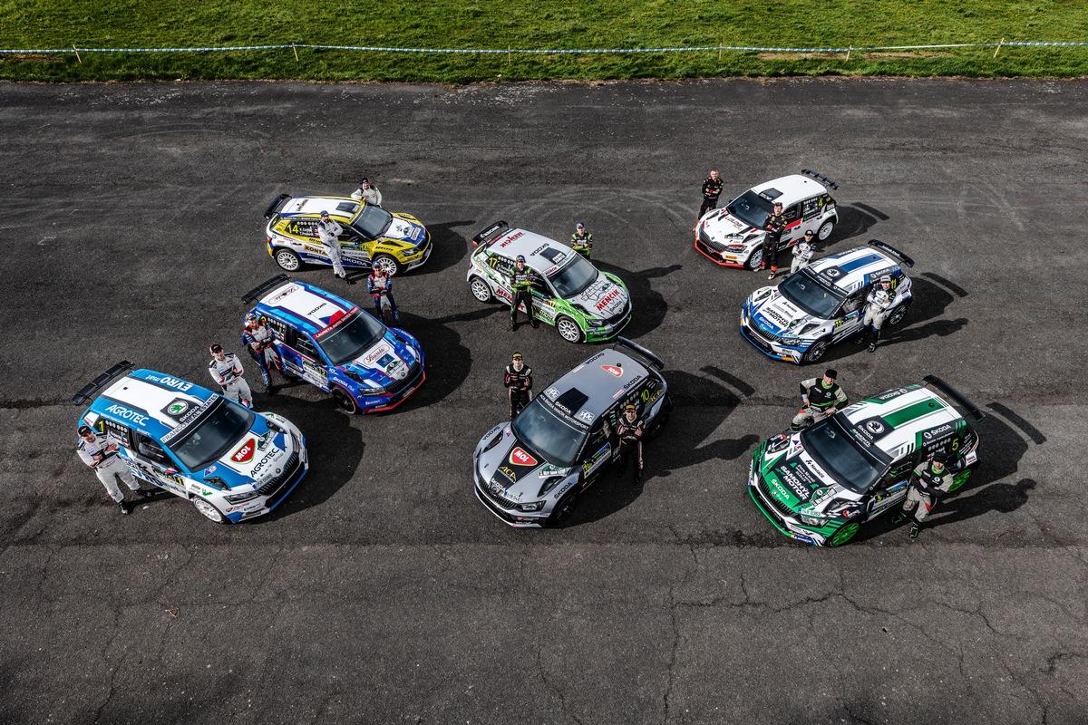ŠKODA feiert 120 Jahre Motorsport im großen Stil: neun ŠKODA Crews bei Bohemia-Rallye am Start