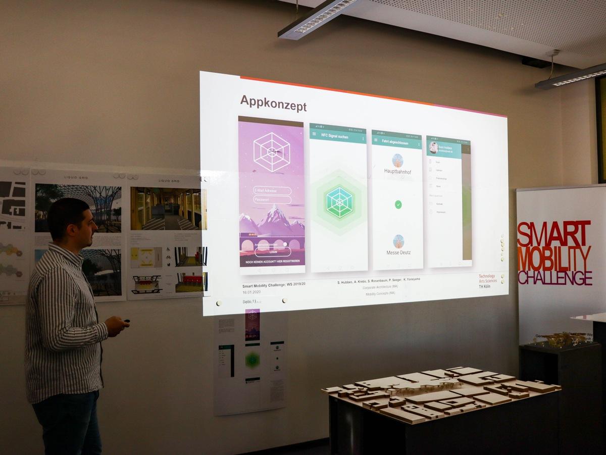 Gewinner der Smart Mobility Challenge stellte sein Start-Up 'Liquid Grid' vor