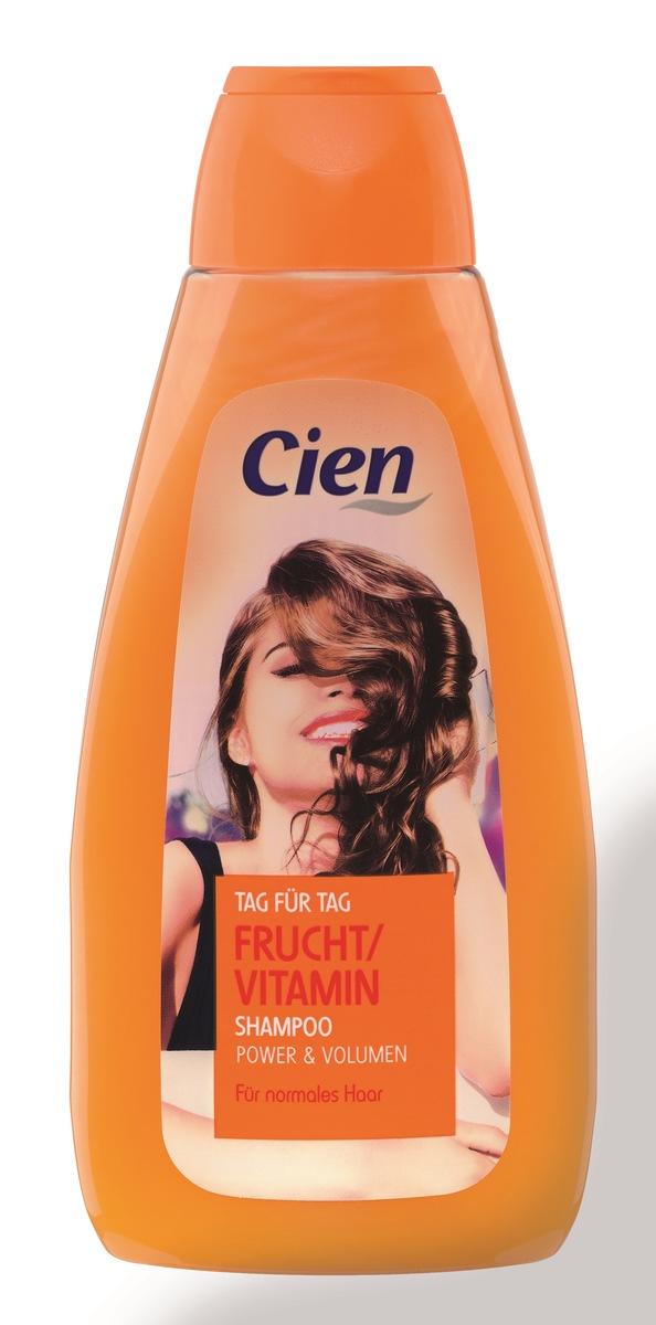 Cien Tag Für Tag Frucht/Vitamin Shampoo Power & Volumen Normales Haar