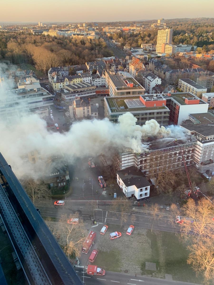 Feuer In Frankfurt