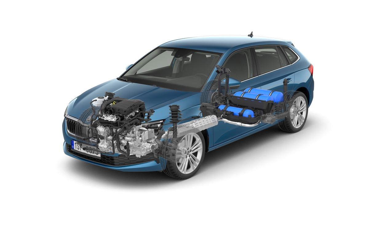 Umweltfreundlicher, kostengünstig und sofort verfügbar: Erdgasantriebe in den G-TEC-Modellen von SKODA
