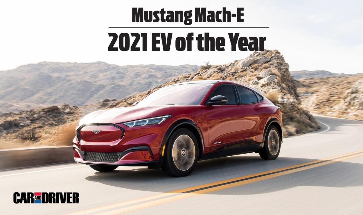 Sieg für den Ford Mustang Mach-E beim ersten 'Electric Vehicle of the Year Award 2021' von 'Car and Driver'