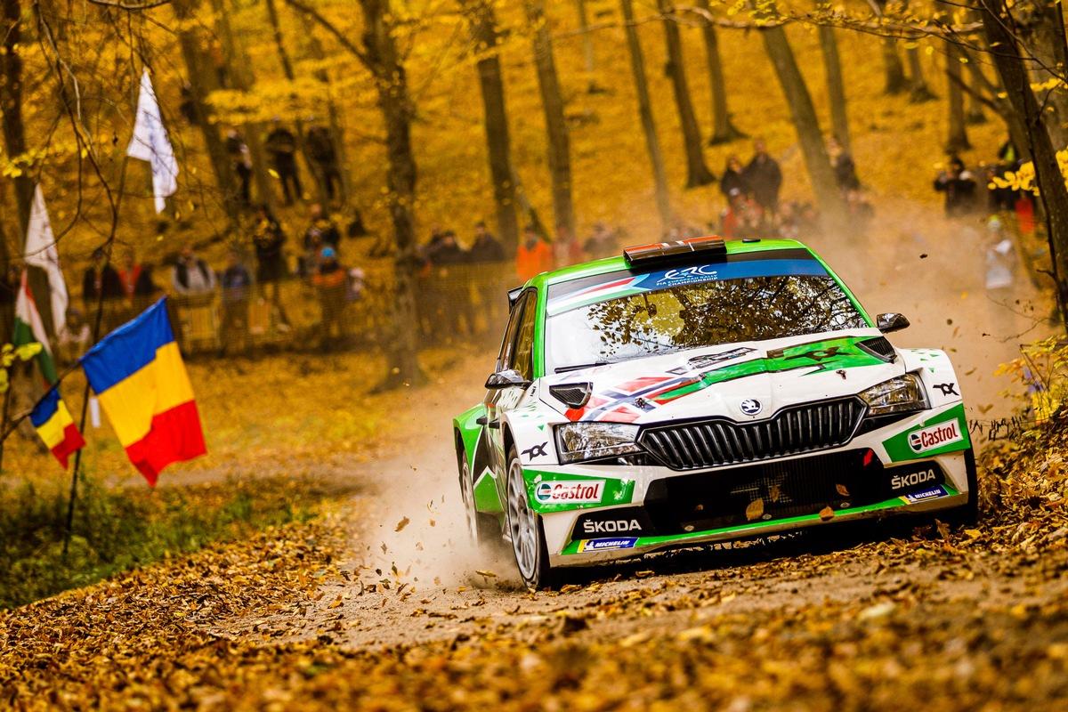 ŠKODA Fahrer Andreas Mikkelsen wird vorzeitig Rallye-Europameister*