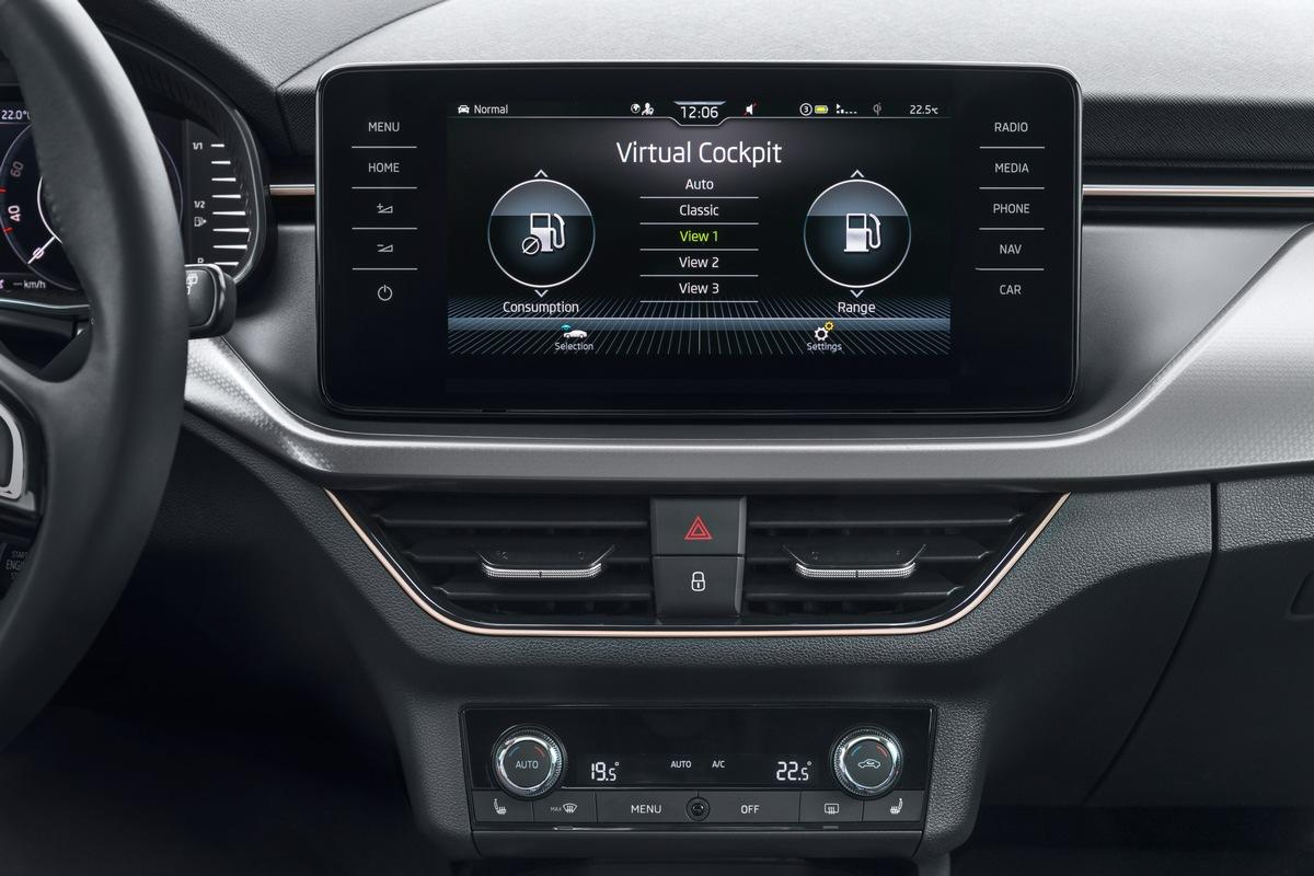 SCALA- und KAMIQ-Käufer schätzen Top-Infotainment-Features wie Virtual Cockpit, Navigationssystem Amundsen und DAB