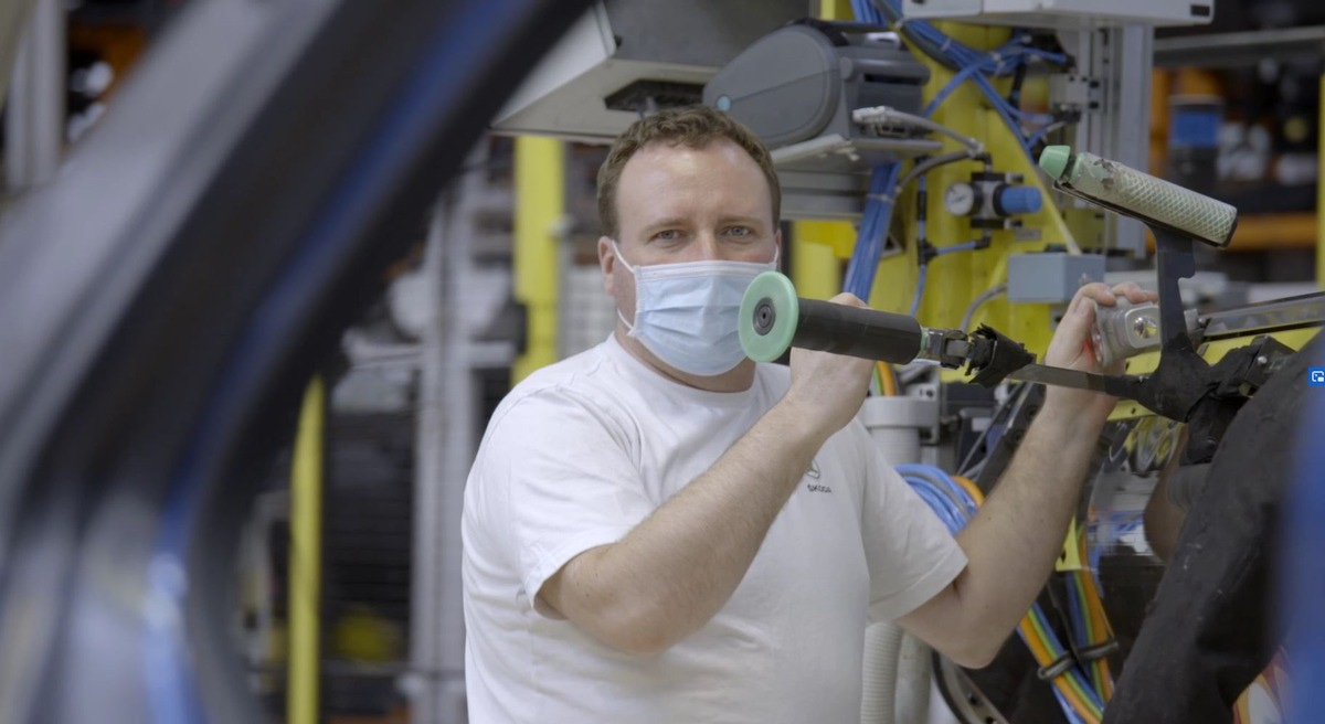 Schutzmaßnahmen in der Produktion bei SKODA AUTO