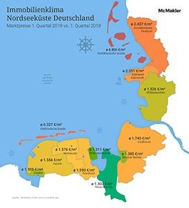Nordfriesische Inseln Karte.Raues Immobilienklima An Der Nordsee Nordfriesische