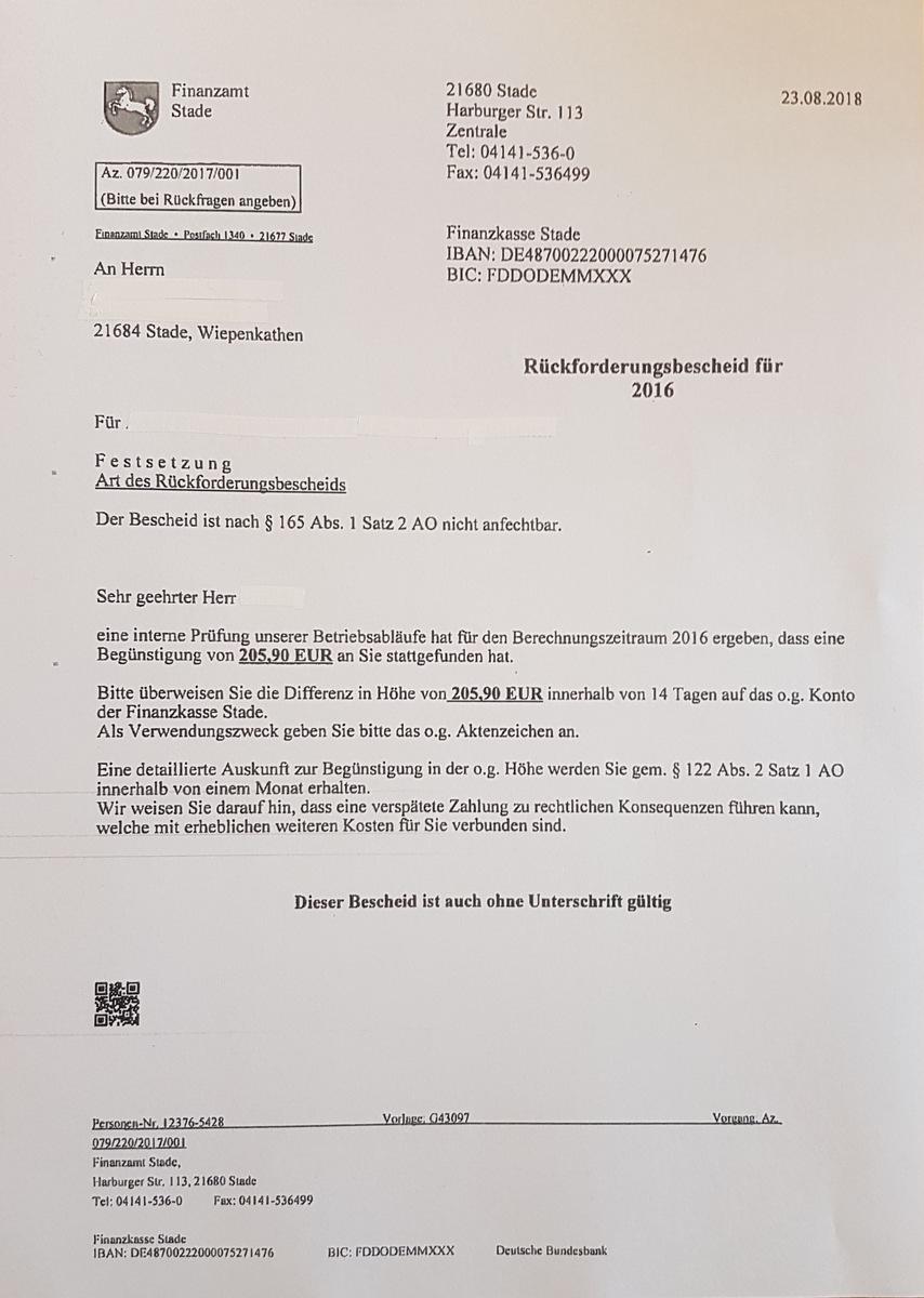 Brief Vom Finanzamt