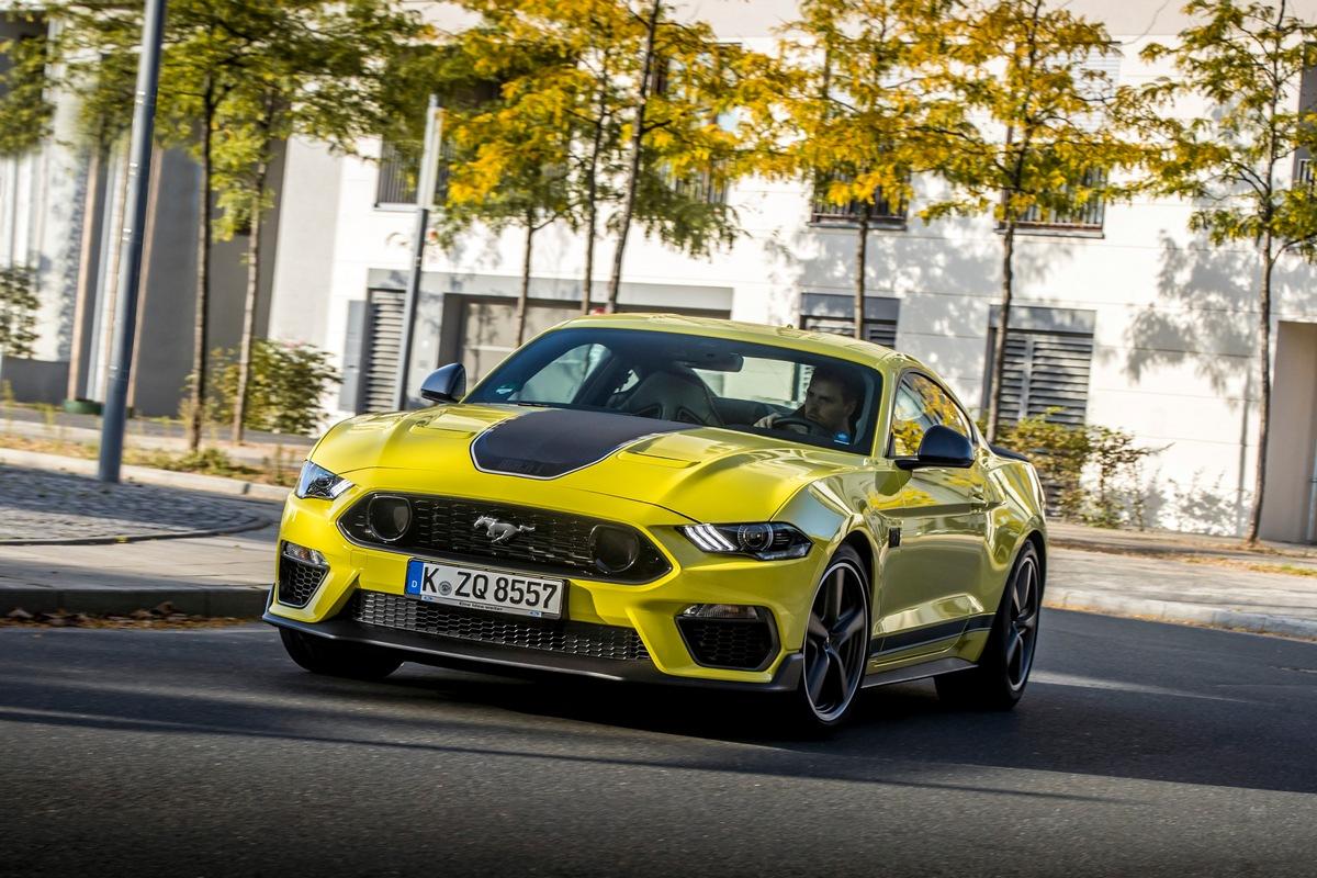 VIDEO Ford Mustang Mach 1: Limitiertes Sondermodell mit 338 kW (460 PS) V8-Motorleistung