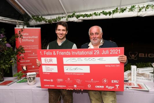 155.000 Euro für Kinder in Bewegung – Felix Neureuther freut sich über Premiere seines 1. Charity-Golfturniers