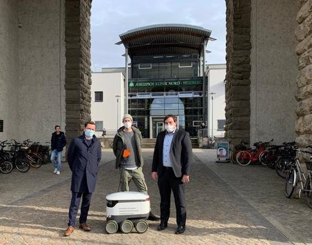 Innovation: Asklepios Klinik Nord und Medilys setzen autonome Lieferroboter zwischen den Standorten Heidberg und Ochsenzoll ein