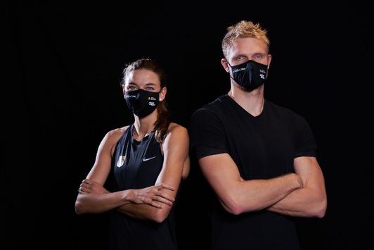 Sporthilfe und Maskenhersteller 5log rüsten geförderte Athlet:innen aus und starten Benefizaktion zugunsten der Athletenförderung